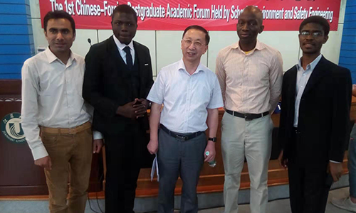 Prof. Sun and Students attended The 1st Chinese-Foreign Postgraduate Academic Fourm